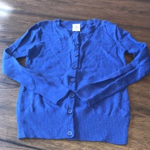 Tucker + Tate blue cardigan size 5/6